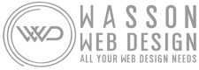 Wasson Web Design Silver Transparent logo